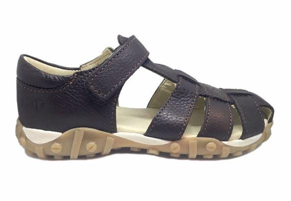 Image of   Arautorap (RAP) sandal med tårem og lukket hæl, brun