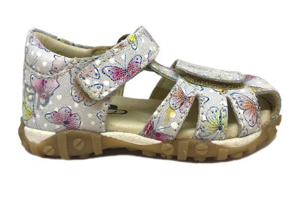 Image of Arautorap (RAP) sandal med tårem og lukket hæl, butterfly white
