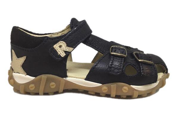 Image of   Arautorap (RAP) sandal med tårem og lukket hæl, sort