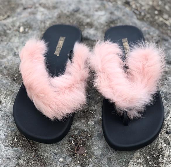 Image of   The White Brand - Klip klap Fur, rosa