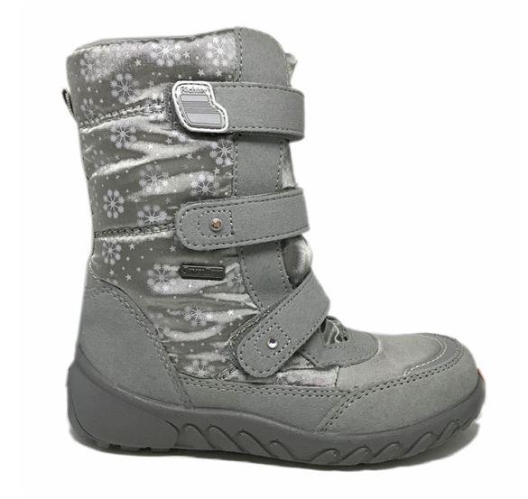 Richter 5150 vandtætte vinterstøvler m/star-deco, sølv/grå