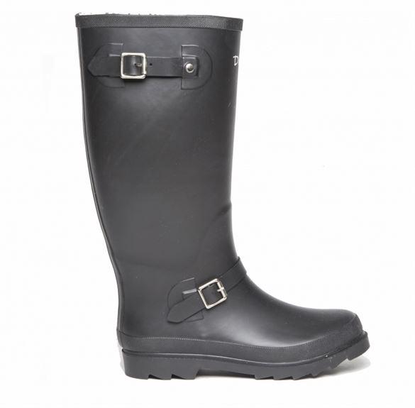 Duffy lange gummistøvler, sort