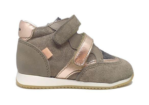 Image of   BabyBotte Aerobik pige sneakers, sand/gylden