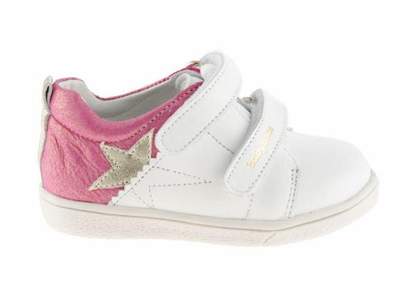 Image of   BabyBotte Akemi sneakers -pigesko, hvid/pink