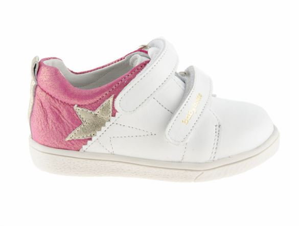 BabyBotte Akemi sneakers -pigesko, hvid/pink