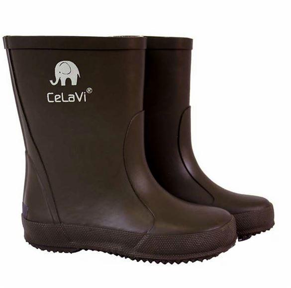 CeLaVi smalle gummistøvler, brun