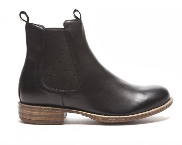 Duffy klassisk skind-ankel støvle, sort