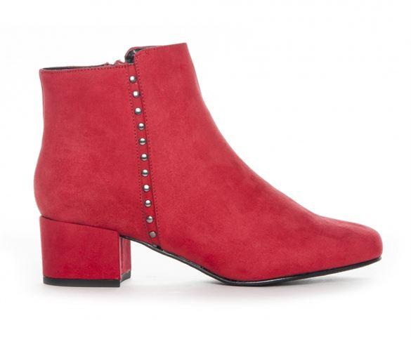 Duffy ankelstøvle m/nitter, rød