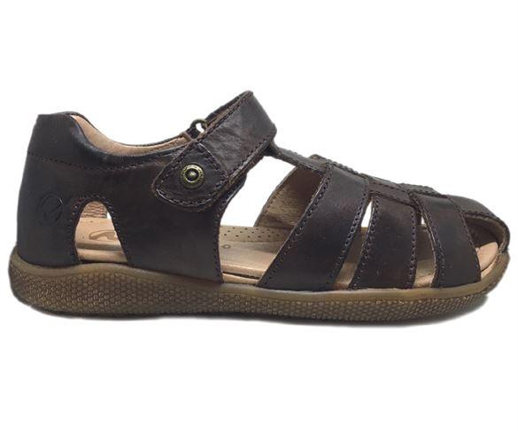 Naturino Gene sandaler med lukket hæl og tå, mørkebrun