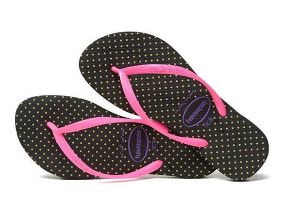 Havaianas Slim Fresh sort/pink, klip-klap (flip-flop)