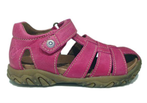 Naturino Gene pigesandaler med lukket hæl og tå, pink