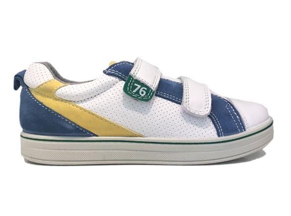 Primigi 7621 sneakers, hvid/blå/gul