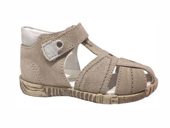 Primigi PBF 7041 sandal med lukket hæl og velcro, beige