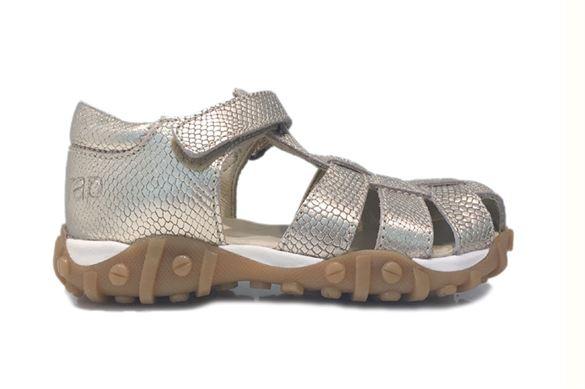 Image of   Arautorap (RAP) sandal med tårem og lukket hæl, guld