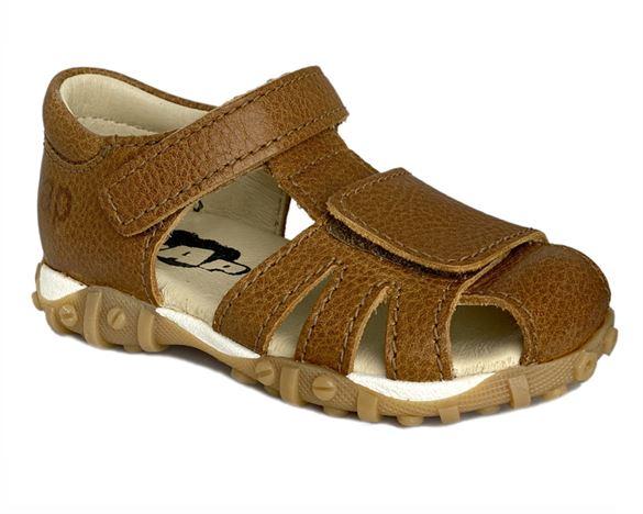 Image of   Arautorap (RAP) sandal med lukket hæl, cognac