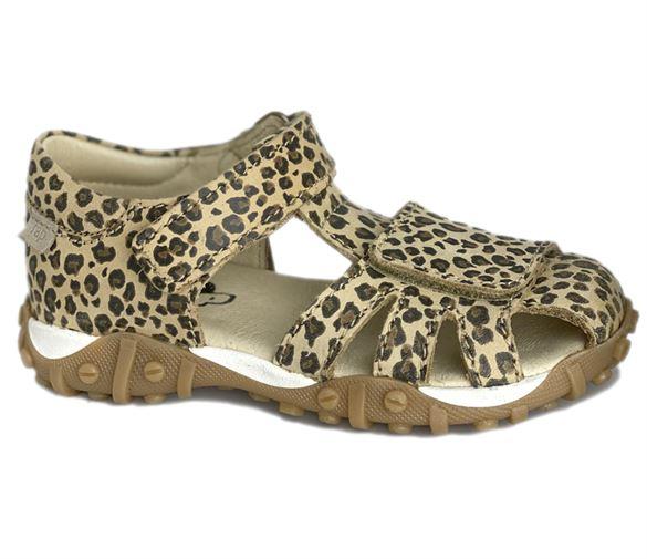 Image of   Arautorap (RAP) sandal med lukket hæl, leopard