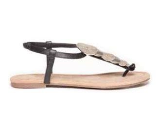 Duffy sort sandal m/decoration