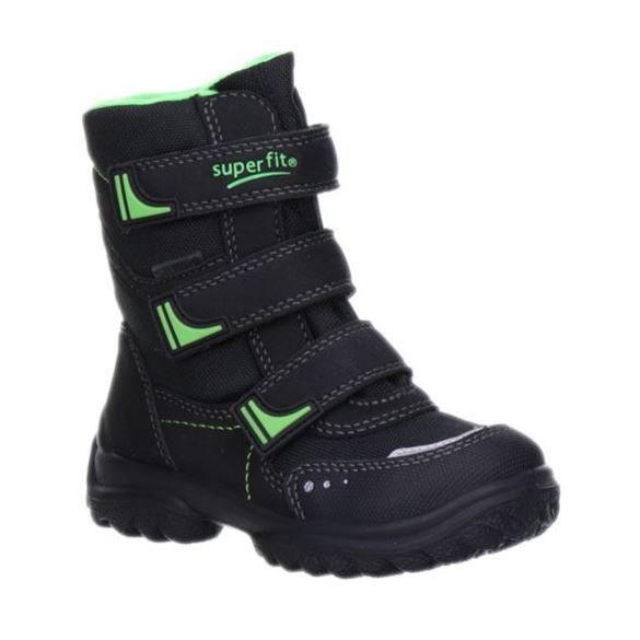 Superfit små drengestøvler m/Goretex, sort / neongrøn