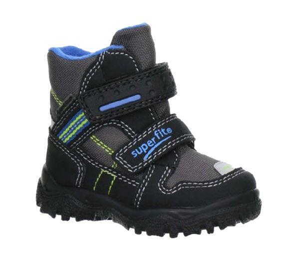 Superfit små drengestøvler m/Goretex, grå/sort m. blå