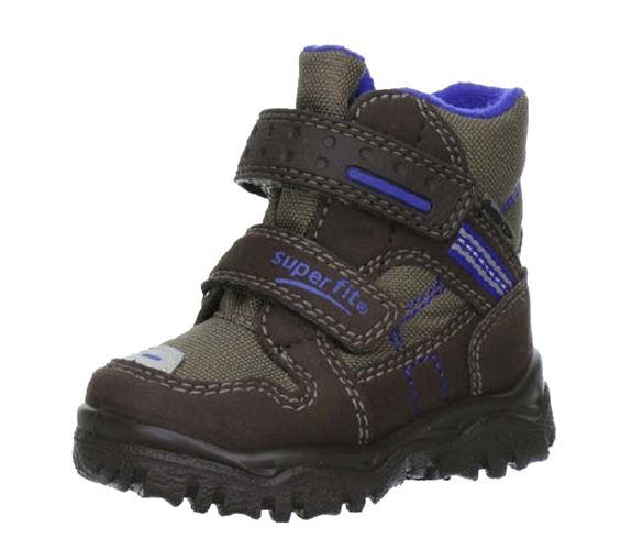 Superfit små drengestøvler m/Goretex, brun/blå