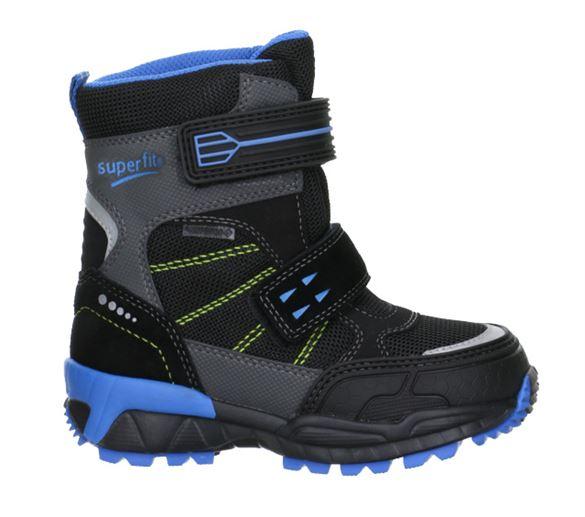 Superfit vinterstøvler m/Goretex, sort/lys blå