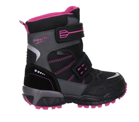 Image of   Superfit vinterstøvler m/Goretex, sort/pink