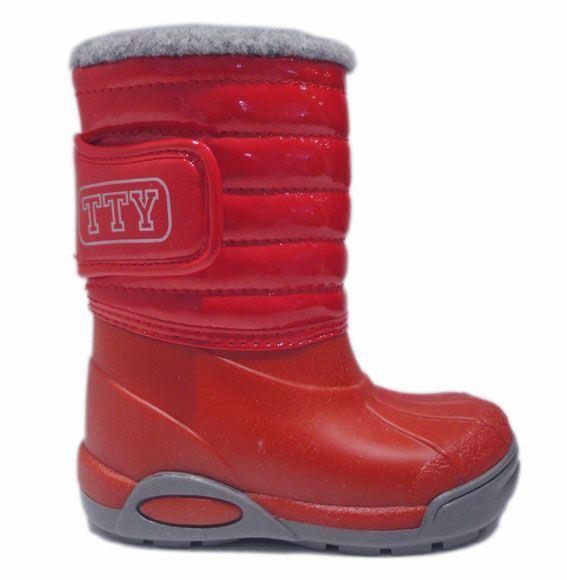 TTY Xiver termo gummistøvle, rød