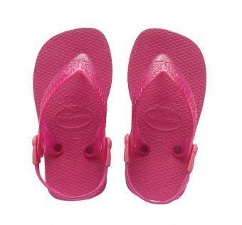 Image of   Havaianas Baby Top, pink klip-klap (flip-flop) med elastikrem