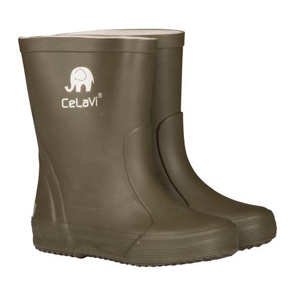 Image of   CeLaVi smalle gummistøvler, army