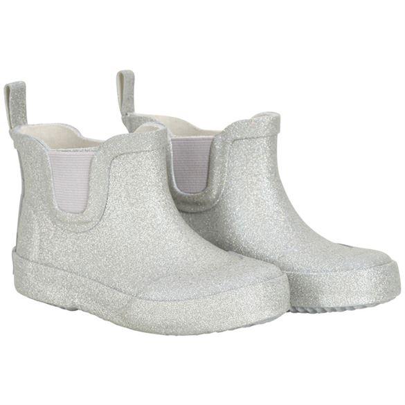Image of   CeLaVi smalle korte gummistøvler, sølv glitter