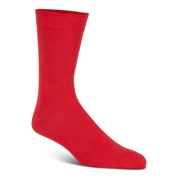 Doublesoft uldstrømper, rød (31-34) - velegnet til membran-støvler