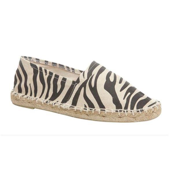 Duffy espadriller med zebra-print