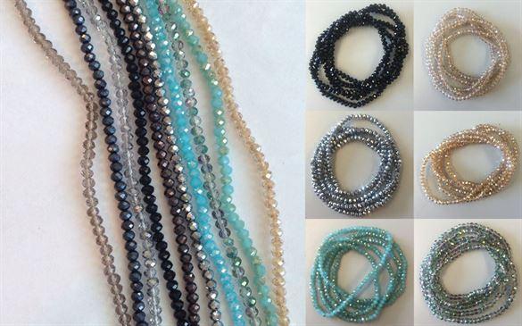 Billede af Zento glasperlekæder (2 i 1), flere farver