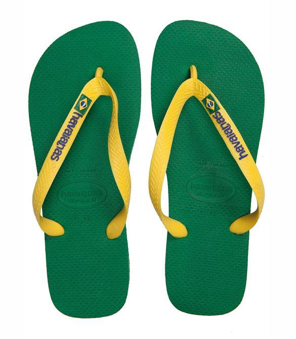 Image of   Havaianas Kids Brasil logo grøn, klip-klap (flip-flop)