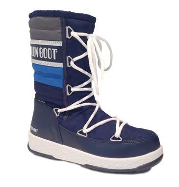 Moon Boot W.E. Quilted JR WP navy/royal, vinterstøvler