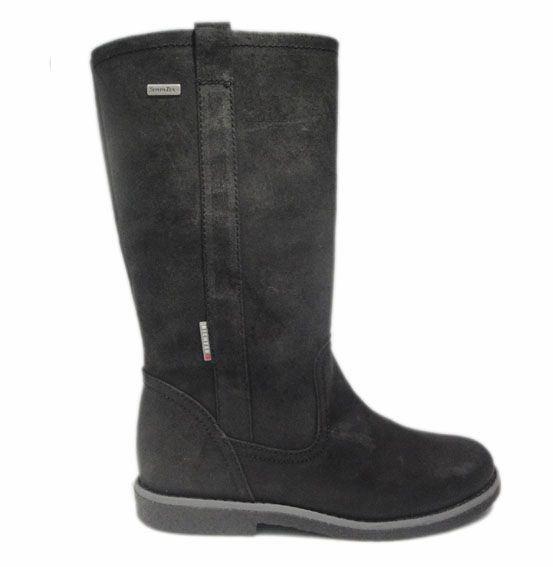 Image of   Richter 3366, vandtæt vinterstøvle, bamsestøvle, nubuck, sort