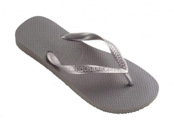 Havaianas Top Metallic, grå/sølv, klip-klap (flip-flop)