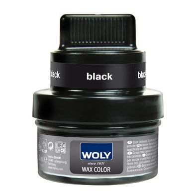 Woly shoe cream - wax color - sort